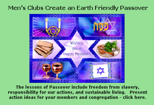 Earth Friendly Passover - click here for activities