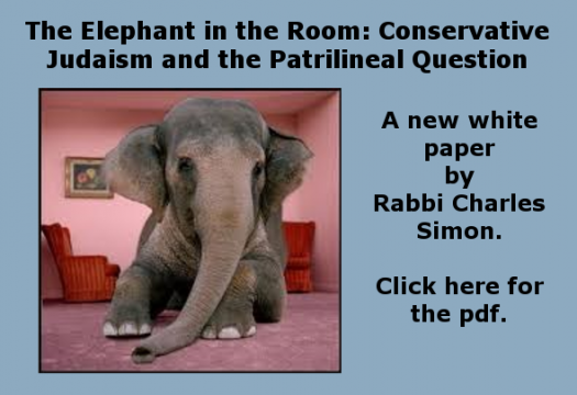 The Elephant in the Room: Conservative Judaism and the Patrilineal Question
