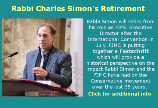 Rabbi Charles Simon's Retirement Tribute