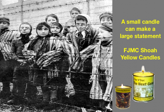 Shoah Yellow Candles