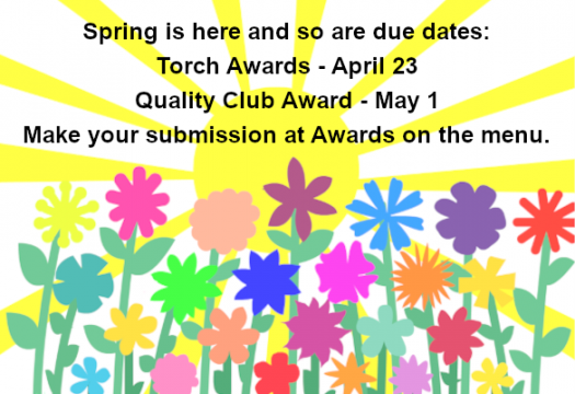 Springtime Awards Due Dates - Submit your applications
